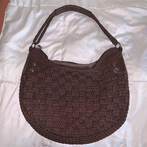 The Sak crochet brown shoulder bag